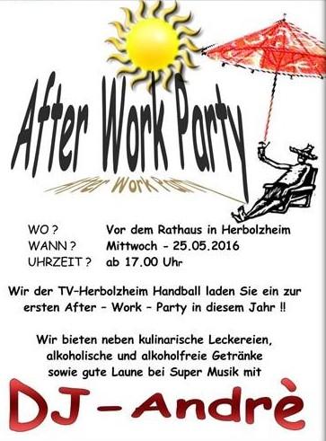 Afterwork-Party 25.05.16 Rathausplatz